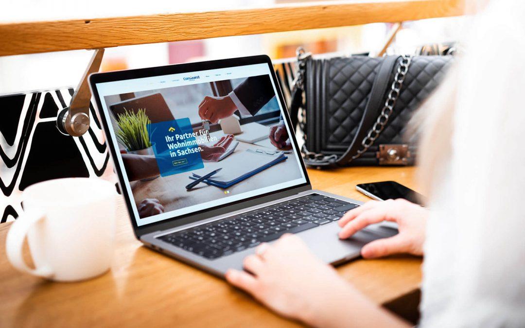Neue Internetseite Consavest Immobilien